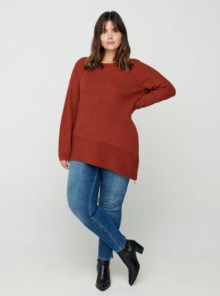 Tehlový sveter Zizzi