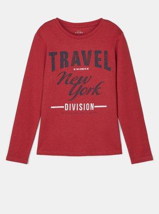 Červené chlapčenské tričko s potlačou name it