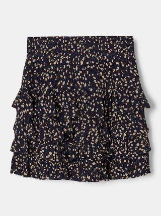 Tmavě modrá holčičí květovaná sukně name it