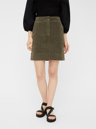 Khaki manšestrová sukně Pieces