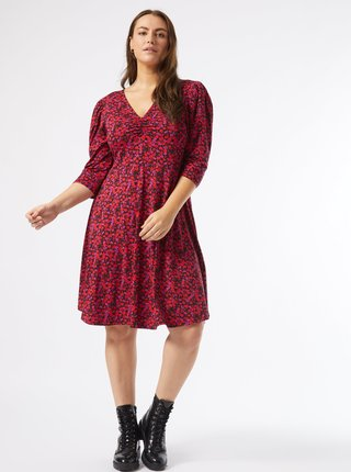 Vínové kvetované šaty Dorothy Perkins Curve