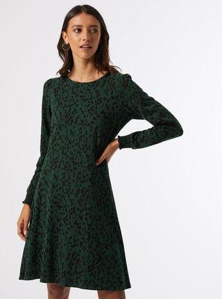 Tmavě zelené vzorované šaty Dorothy Perkins