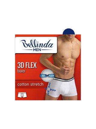 Pánské boxerky 3D FLEX BOXER - Pánské bavlněné boxerky z nového inovativního vlákna - bílá