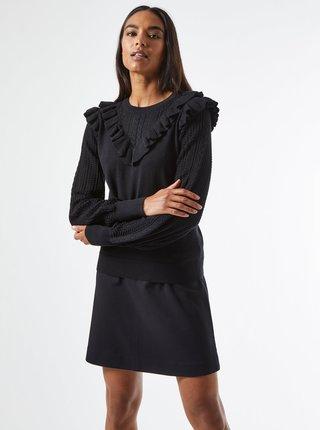 Černý svetr s volány Dorothy Perkins