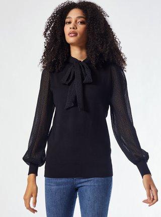 Černý lehký svetr s vázačkou Dorothy Perkins
