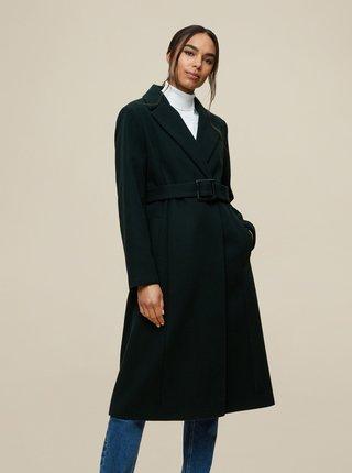 Tmavě zelený zimní kabát Dorothy Perkins