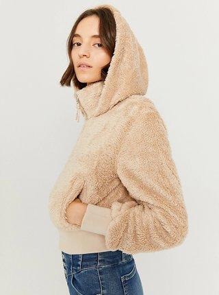 Béžová bunda z umělého kožíšku TALLY WEiJL