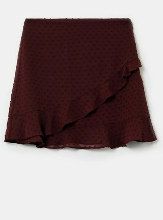 Vínová puntíkovaná sukně TALLY WEiJL