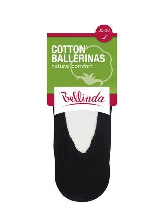 Dámské bavlněné balerínky COTTON BALLERINAS - Dámské bavlněné ponožky vhodné do balerínek - černá