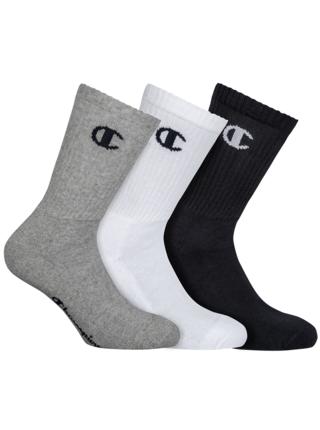 CHAMPION CREW SOCKS LEGACY 3x - Sportovní ponožky 3 páry - černá - bílá - šedá