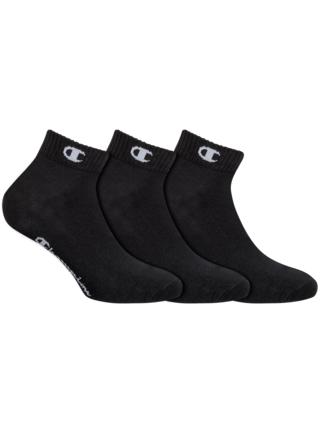 CHAMPION ANKLE SOCKS LEGACY 3x - Sportovní kotníkové ponožky 3 páry - černá