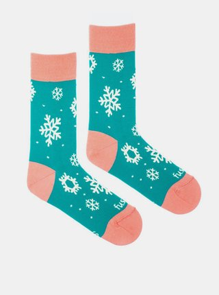 Modré vzorované ponožky Fusakle Sněhovice