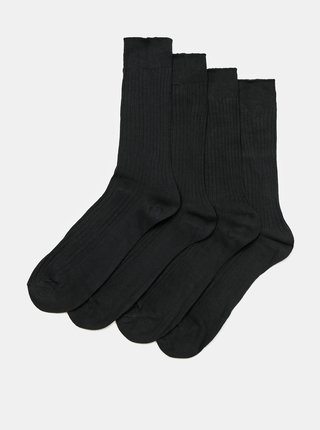 Sada čtyř párů pánských ponožek v černé barvě Something Special