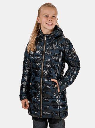 Modrý dievčenský vzorovaný kabát SAM 73