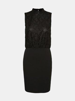 Čierne púzdrové šaty so stojáčikom VERO MODA