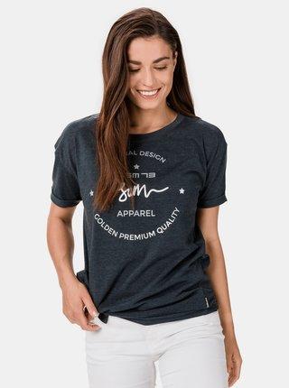 Tmavošedé dámske tričko s potlačou SAM 73