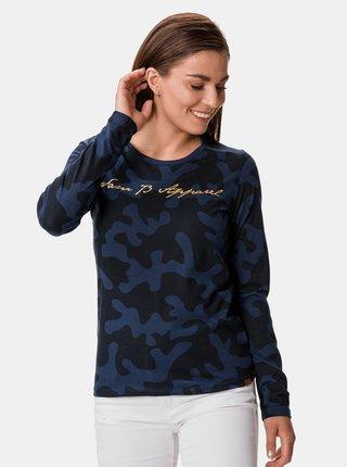 Modré dámské vzorované tričko SAM 73