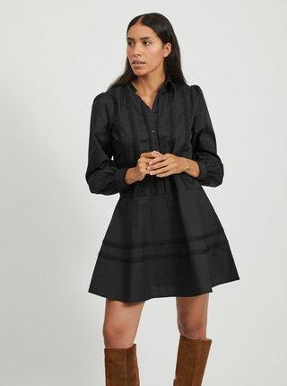 Čierne košeľové šaty VILA