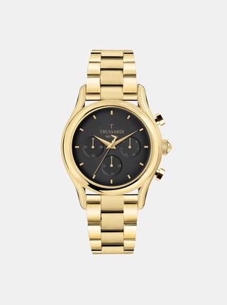 Pánské hodinky s ocelovým páskem ve zlaté barvě Trussardi