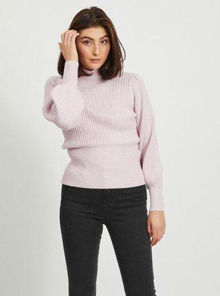 Růžový svetr se stojáčkem .OBJECT