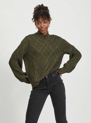 Khaki svetr se stojáčkem .OBJECT