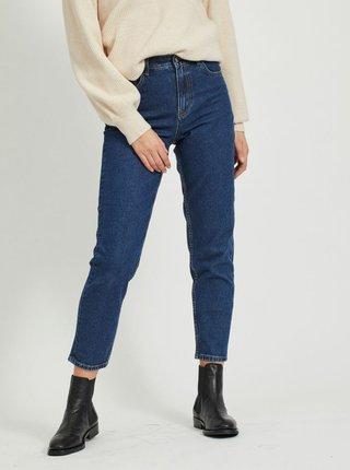 Tmavě modré zkrácené mom fit džíny .OBJECT