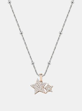 Řetízek ve stříbrné barvě s krystaly Morellato