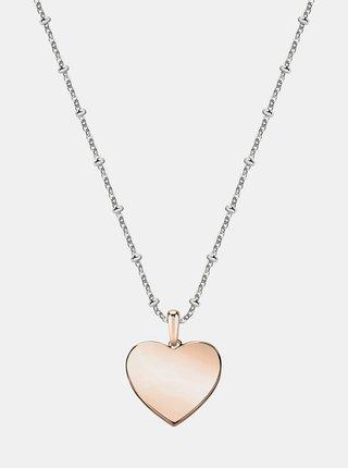 Řetízek ve stříbrné barvě se srdcem Morellato
