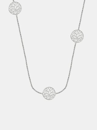 Řetízek ve stříbrné barvě s přívěsky a krystaly Morellato