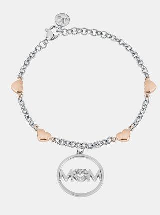 Náramek ve stříbrné barvě s přívěskem a krystaly Morellato