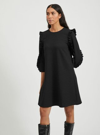 Černé šaty s volány .OBJECT