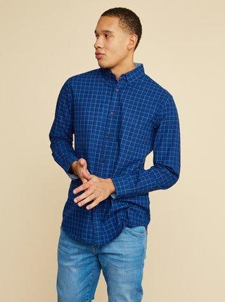 Modrá pánska kockovaná košeľa ZOOT Richard