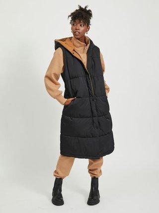 Černá zimní prošívaná vesta .OBJECT