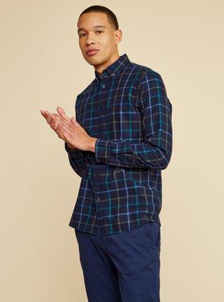 Tmavě modrá pánská kostkovaná košile ZOOT Baseline Aiden