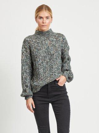 Šedý žíhaný svetr .OBJECT