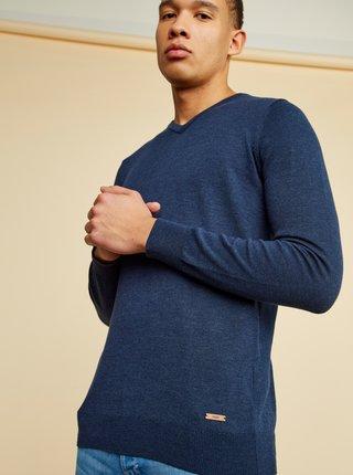 Tmavě modrý pánský basic svetr ZOOT Baseline Leo