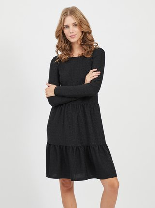 Čierne trblietavé šaty VILA