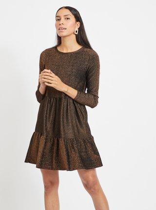 Zlato-hnědé třpytivé šaty VILA