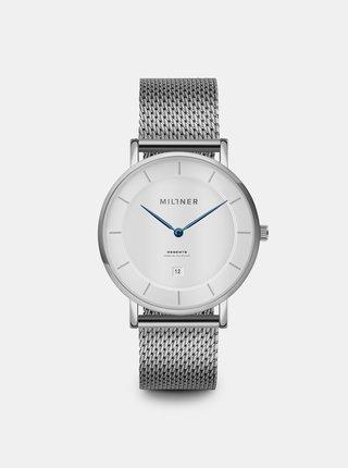 Pánské hodinky s nerezovým páskem ve stříbrné barvě Millner Regents