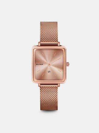 Dámské hodinky s nerezovým páskem v růžovozlaté barvě Millner Royal