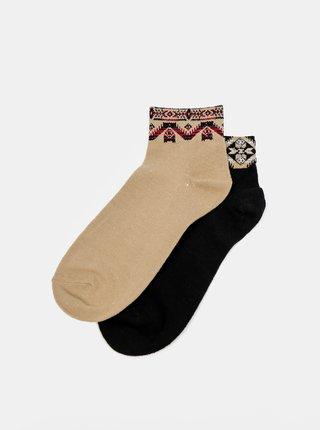 Ponožky pre ženy TALLY WEiJL - čierna, hnedá