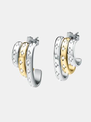 Náušnice ve stříbrné barvě s krystaly Morellato