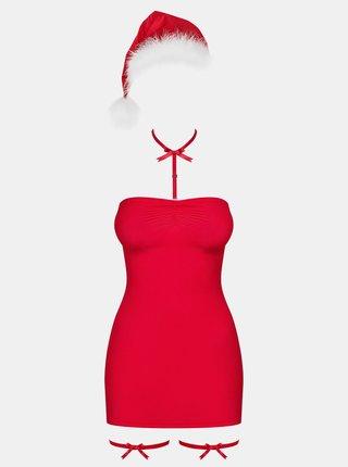 Červený vianočný kostým Obsessive