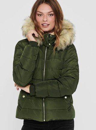 Zelená zimná prešívaná bunda ONLY