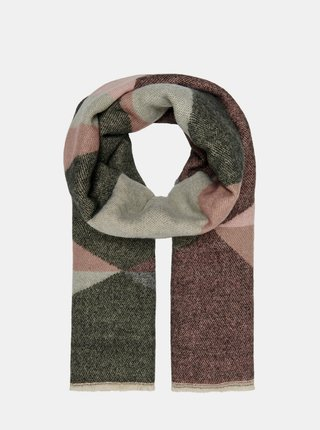 Ružovo-šedý šál ONLY