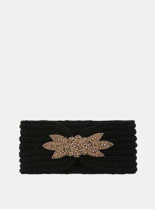 Čierna čelenka s ozdobným detailom Pieces