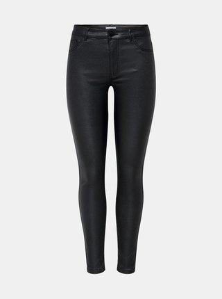 Černé skinny fit kalhoty s povrchovou úpravou Jacqueline de Yong