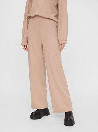 Béžové široké nohavice Pieces