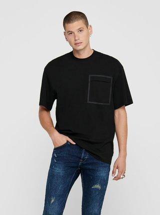 Černé volné tričko ONLY & SONS