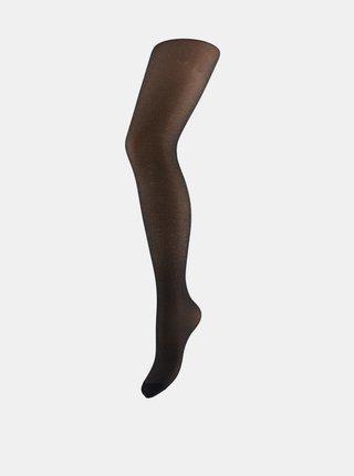 Čierne trblietavé pančuchové nohavice Pieces